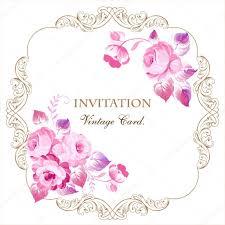 Invitaciones Vintage Rosas Imagenes Vectoriales Ilustraciones