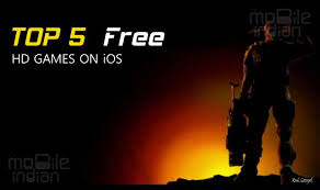 top 5 free hd action games on ios
