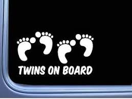 Twins On Board Baby Child Quote Vinyl Decal 8 White Ebay