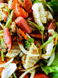 Thai Cuisine Yum Spicy Seafood Salad ...