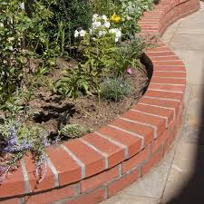 building bordering your flowerbed