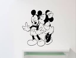 Mickey Mouse Minnie Wall Sticker Decor Art Kids Decal Stickers Nursery Room Diy