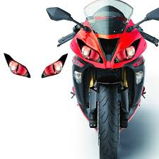 Modified Headlight Stickers Decals Refit Stickers Racing Cars Electric Motorcycle Ornaments Shark Universal Stickers For Yamaha Smartautotasev Anime Motorcycle Bike Helmet Design Motorcycle Helmets