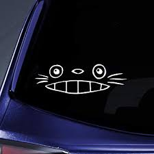 Amazon Com Bargain Max Decals Totoro Ghibli Laputa Jdm Sticker Decal Notebook Car Laptop 8 White Automotive