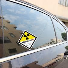 Yjzt 10cm 10cm Radioactive Car Sticker Reflective Car Window Personality Decal C1 7719 Car Sticker Car Window Decalscar Stickers Decals Aliexpress