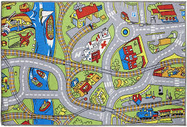 Amazon Com Playmat Play Rug Educational Area Rug For Kids Babt Toddler 40x60 Perfect Carpet For Children Bedroom Playroom Nursery Room And Game Room Street Map Furniture Decor