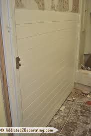 faux wood plank walls