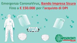 Emergenza CoronaVirus, nuovo Bando Impresa SIcura