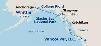 「Alaska cruise itinerary」の画像検索結果