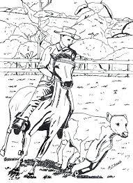 Tekening Van Een Cowboy Op Een Paard Getekend Door Brigit Weeda