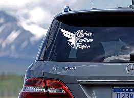 Captain Marvel Higher Further Faster Car Decal Vinyl Etsy