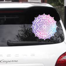 Mandala Car Decal Car Window Decal Watercolor Mandala Etsy