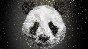 panda low poly 4k hd artist 4k
