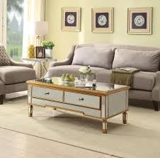 gold surround mirrored coffee table