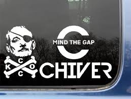 Kcco Ultimate Decal Set Ii Mind The Gap Chiver Bfm Pirate Funny Chive Die Cut Vinyl Sticker Decal For Windows Truck Car Laptop Ipad Ipod Not Printed Kcco