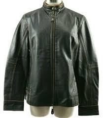 leather moto jacket size medium