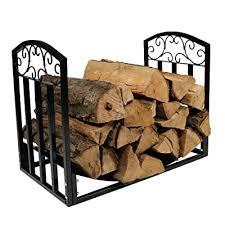wrought iron indoor firewood rack