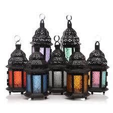 metal glass candle lantern moroccan