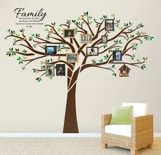 Family Tree Wall Decal 7 5 Ft Tall X 10 Ft Wide With 01 Etsy