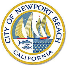 Amazon Com American Vinyl Round Newport Beach Ca City Seal Sticker Orange Official Decal Automotive