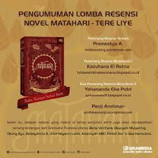 book review matahari by tere liye red blue story