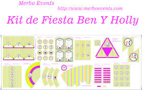 Kit Imprimible Ben Y Holly Merbo Events