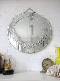 art deco bevelled edge wall mirror