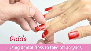 acrylic nails with dental floss