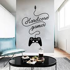 Amazon Com Wewinle Game Decal For Boys Room Hardcore Gamer Wall Sticker For Kids Room Bedroom Living Room Wall Decor Decals Game 003 Kitchen Dining