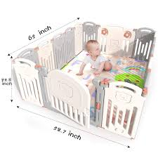 Kidsclub Baby Playpen 14 2 Panel Activity Center Safety Play Yard For Toddler Foldable Portable Hdpe Indoor Outdoor Infants Playards Fence Play Pin Let Baby Play While Doing Housework Cooking On Galleon Philippines