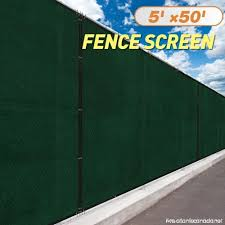 Jaxpety 5 X 50 Heavy Duty Privacy Screen Fence Windscreen Shade Fabric Mesh Tarp Copper Grommets