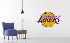 Los Angeles Lakers Logo Wall Decal Nba Wall Decal Logo Wall Wall Decals Nba Basketball Teams