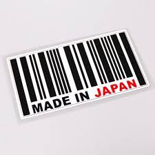 Made In Japan Barcode Decal Sticker Top Jdm Store