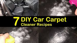 7 easy to make diy car carpet cleaner