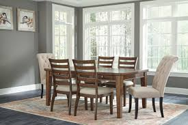 Flynter 7 Pc Dining Room Set Table 4 Side Chairs And 2 Upholstered Chairs Linen Color Sold At Hilton Furniture Serving Houston Tx Ands Surrounding Areas