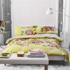 Proserpine Ochre Yellow Floral Bed Linen | Designers Guild