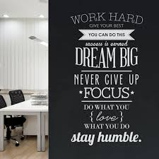 Work Hard Dream Big Never Give Up Classroom Motivation Wall Decal Teacherfanatics Com