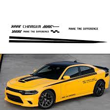 For Dodge Charger Car Sticker Car Side Body Decal Pickup Truck Decals Diy Car Decoration Custom Stickers 280cm Car Accessories Car Stickers Aliexpress