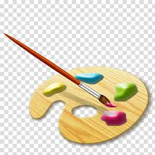 paint plate and paint brush