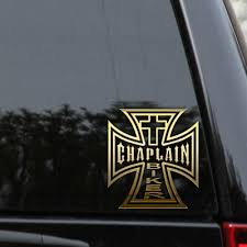 Chaplain Biker Cross Decal Sticker Jesus Iron Tetra Window Laptop Truck Car Ebay