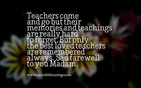 beautiful collection of farewell quotes for teacher