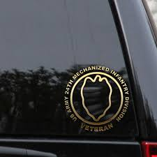 Us Army 24th Infantry Decal Sticker Division Veteran First Car Window Laptop Infantry Decals Stickers Army