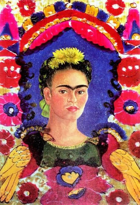 """Resultado de imagen para autorretrato el marco frida kahlo"""""""