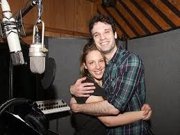Jessie Mueller and Jake Epstein in the recording studio for ...