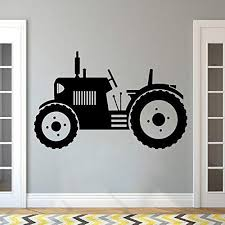 Amazon Com Tractor Wall Decal Big Tires Farmer Vehicle Wall Sticker Kids Children Toddler Wall Poster Home Decor Farm Wall Murals92x57cm Home Kitchen