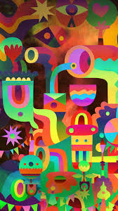 3d abstract colorful shapes android
