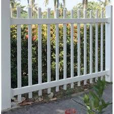 Azembla 4 Ft H X 6 Ft W Picket Vinyl Fence Panel In 2020 Vinyl Fence Panels Garden Fence Panels Fence Panels