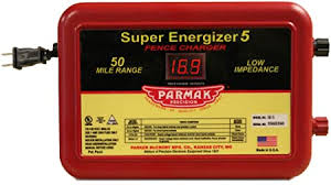 Amazon Com Parmak Super Energizer 5 Low Impedance 110 120 Volt 50 Mile Range Electric Fence Controller Se5 Livestock Equipment Garden Outdoor