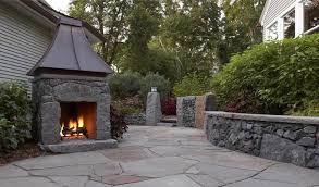 outdoor stone fireplace plans
