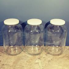 10 tall one gallon clear glass jar
